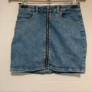 Garage   Denim Blue Jean Mini Skirt Size Small